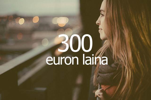 300 euroa lainaa nopeasti
